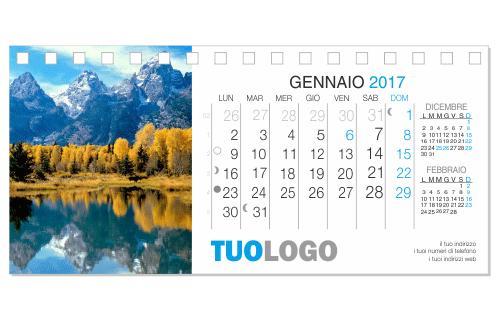 Calendari da tavolo 2018 21x10 modello 1