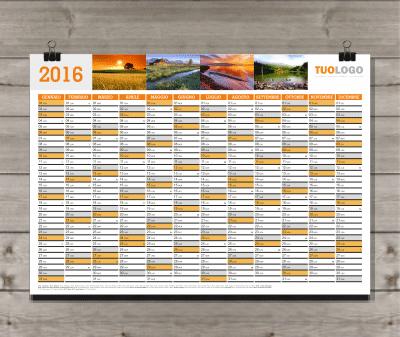 Calendario Da Parete Grande.Stampa Calendari 2018 Personalizzati Grafica Gratuita