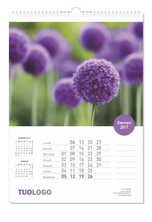 Calendari da muro 2021 verticale - 21x29.7 - modello 1