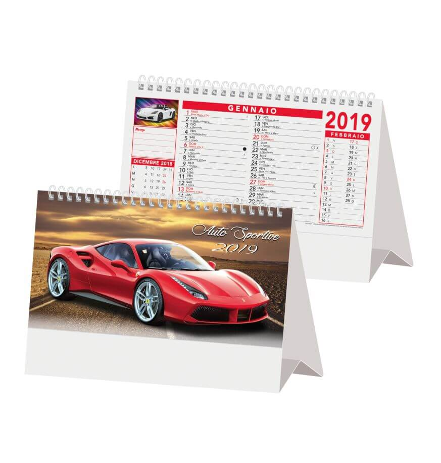 Calendario Auto.Calendario Da Tavolo 2019 Auto Sportive 2