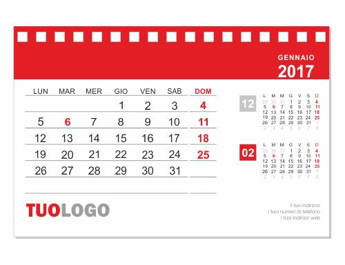 Calendari da tavolo 2018 15x10 modello 14 - Calendario 2017 da tavolo ...