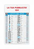 Calendario olandese classico blu 2020 - 29x47