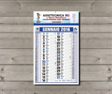 Calendari da muro olandesi 2018 con testata personalizzata