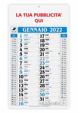 Calendario olandese Gigante Blu 2019 - 31x53.5